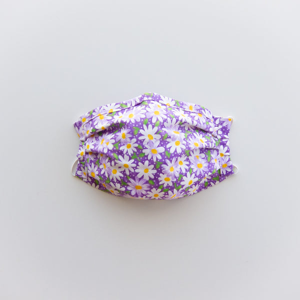 Adult Reusable Face Mask - Purple Daisy