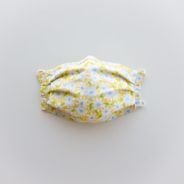 Adult Reusable Face Mask - Yellow Daisy