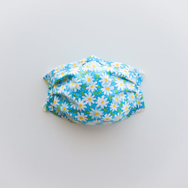 Adult Reusable Face Mask - Ocean Daisy