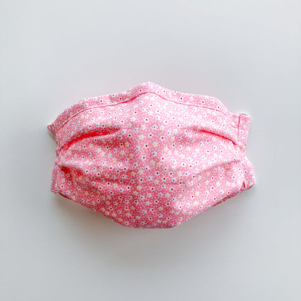 Adult Reusable Face Mask - Pink Star Flower