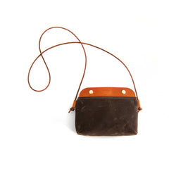 Mallorca Crossbody Bag - Dark Brown Waxed