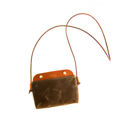 Mallorca Crossbody Bag - Cinnamon Waxed