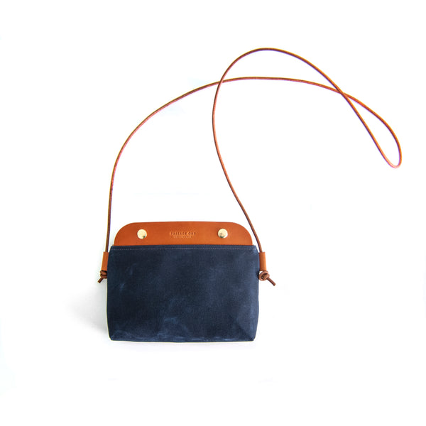 Mallorca Crossbody Bag - Navy Waxed