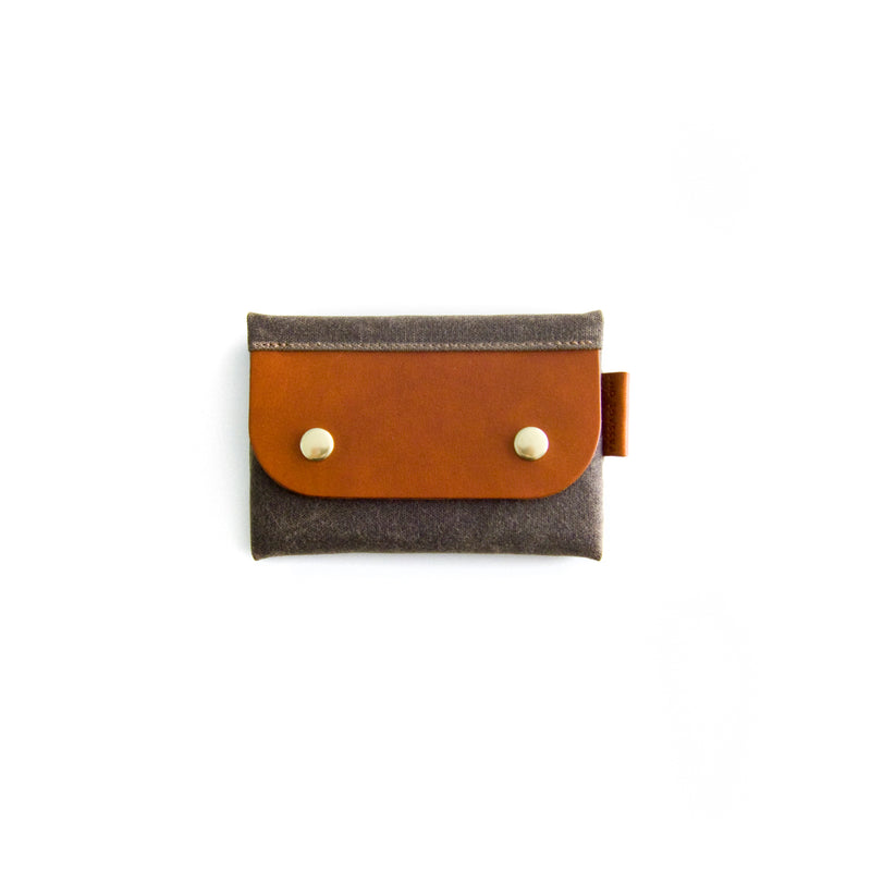 Salzburg Card Wallet - Dark Brown Waxed