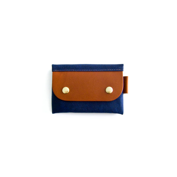 Salzburg Card Wallet - Navy Waxed
