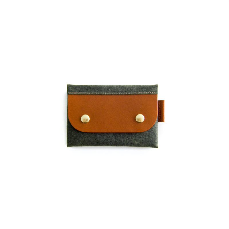 Salzburg Card Wallet - Olive Waxed