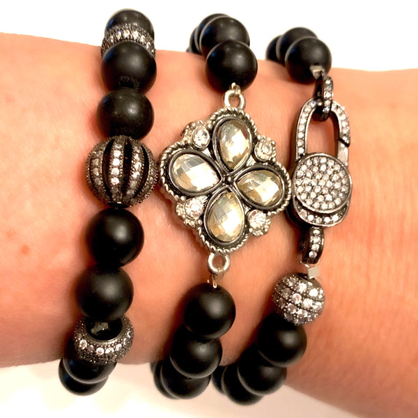Onyx & Crystal Stackables