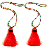Long African Beaded Necklaces