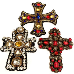 Crystal Cross Patches