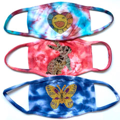 Rainbow Tie Dyed Masks