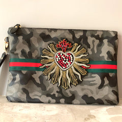 Flaming Heart Clutch
