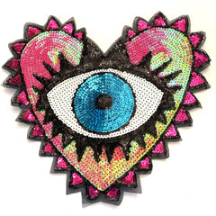 Evil Eye Heart Patch