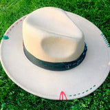 Embroidered Felt Fedora