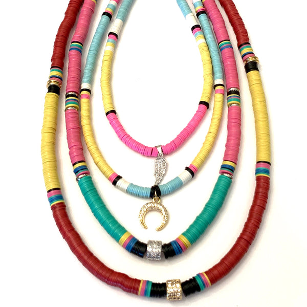 African Short Beaded Necklaces