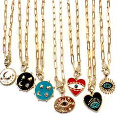 Charming Enamel Necklaces