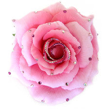 Flower Clip-Large Light Pink Rose