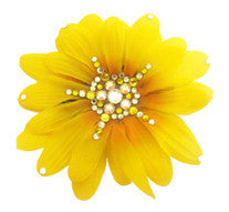 Flower Clip-Medium Yellow Daisy
