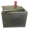 Stainless Steel time capsule with bolted lid and EPDM rubber gasket