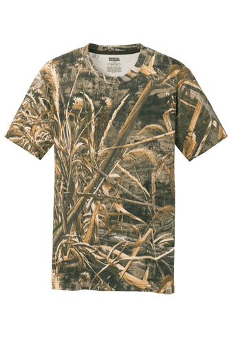 MEN'S RUSSELL OUTDOORS REALTREE COTTON TEE W/ LOGO LEFT CHEST
