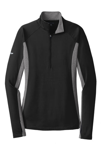 LADIES SPORT-TEK SPORT WICK 1/2 ZIP PULLOVER W/ LOGO LEFT CHEST