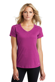 Ladies ENDURANCE Peak V-Neck Tee w/ Logo Front Chest