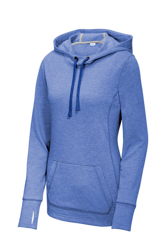 Supporter Ladies Fleece Hooded Pullover Tri-Blend Wicking
