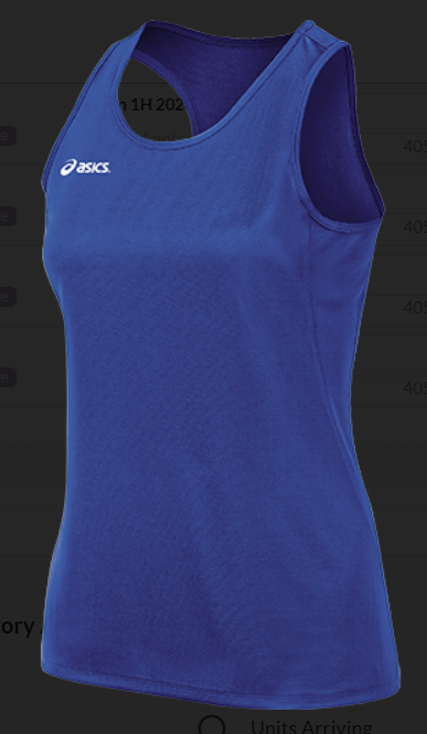 Asics Ladies Rival Singlet RR Logo Front Center
