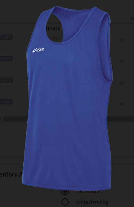 Asics Men's Rival Singlet RR Logo Front Center