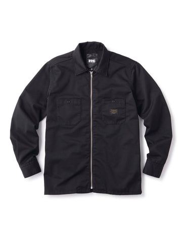 ZIP UP L/S WORK SHIRT