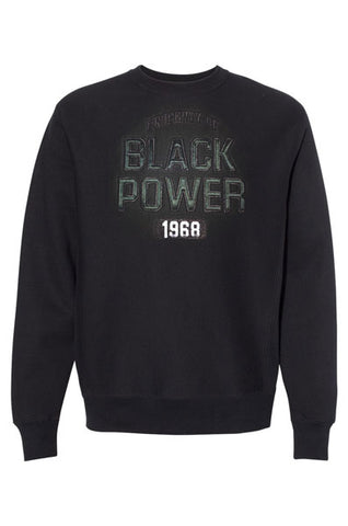 BLACK POWER 1968 EMBROIDERED CREW SWEATER
