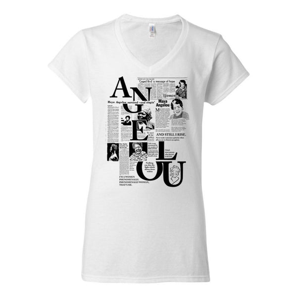 MAYA ANGELOU WOMEN'S V-NECK