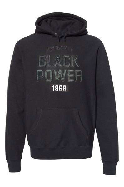 BLACK POWER 1968 EMBROIDERED HOODIE