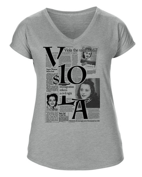 V10LA DESMOND WOMEN'S V-NECK