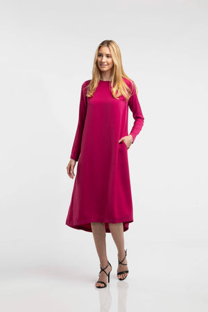 The Sarah Dress - Cranberry