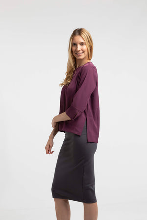 modest breastfeeding top for women