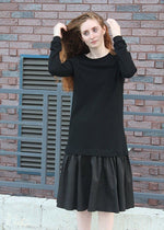 The Ruffle Dress - Black
