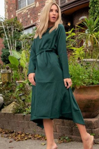 The Eve Party Dress - Hunter Green