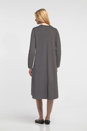 Two-Tone Dress - Grey