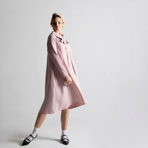 Peter Pan Collar Dress - Pink