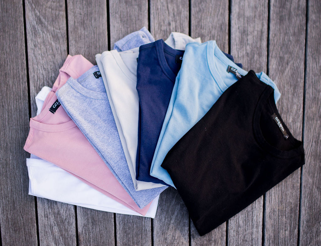 Classic Cotton Stretch Tee - Available in 7 colors