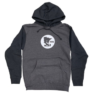 CHARCOAL AND BLACK- hoodie