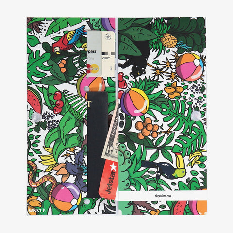 Rainforest Magic Travel Wallet - The Walart - Paper Wallet