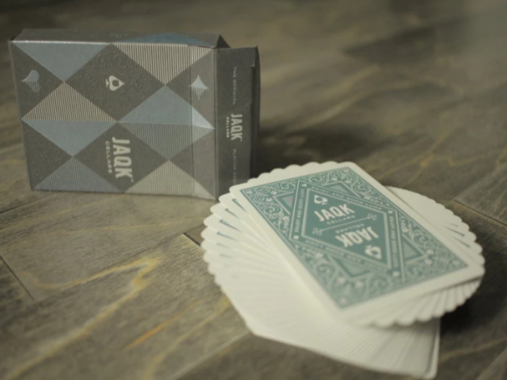 JAQK CELLAR PLAYING CARDS - LIGHT BLUE EDITION - JCM STORE