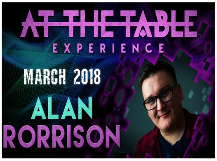 AT THE TABLE - LIVE LECTURE - ALAN RORRISON - VIDEO DOWNLOAD