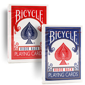 BICYCLE POKER DECK - OLD CASE - BLAU ODER ROT