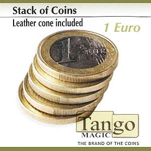STACK OF COINS (LEATHER CONE INCLUDED) - 1 EURO - JCM STORE