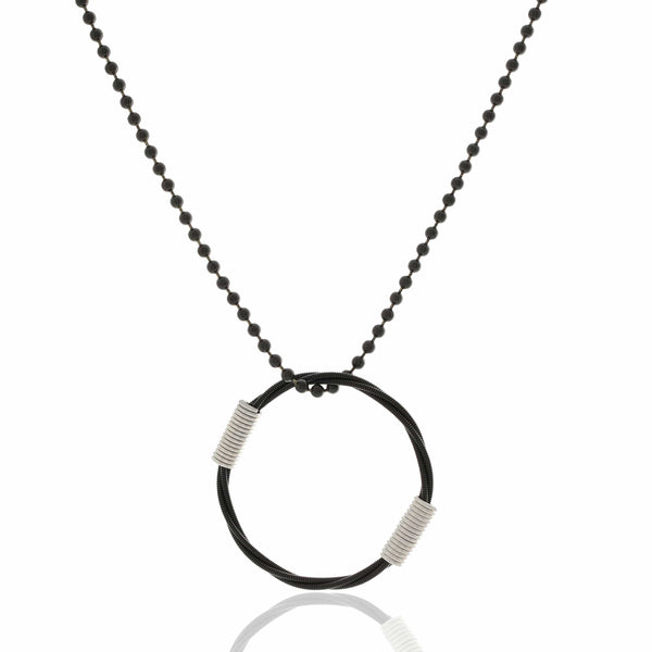 BALL & CHAIN NECKLACE - BLACK