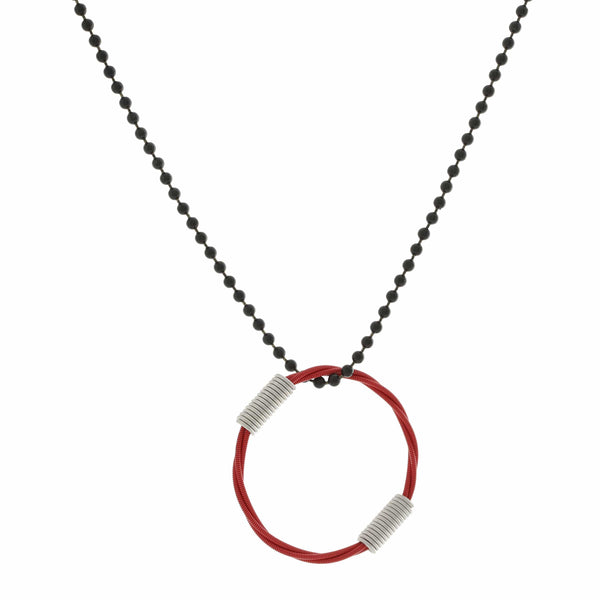 BALL & CHAIN NECKLACE - RED