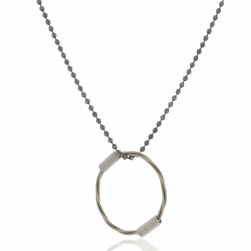 BALL & CHAIN NECKLACE - SILVER