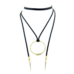 Choker Chord Black/Gold